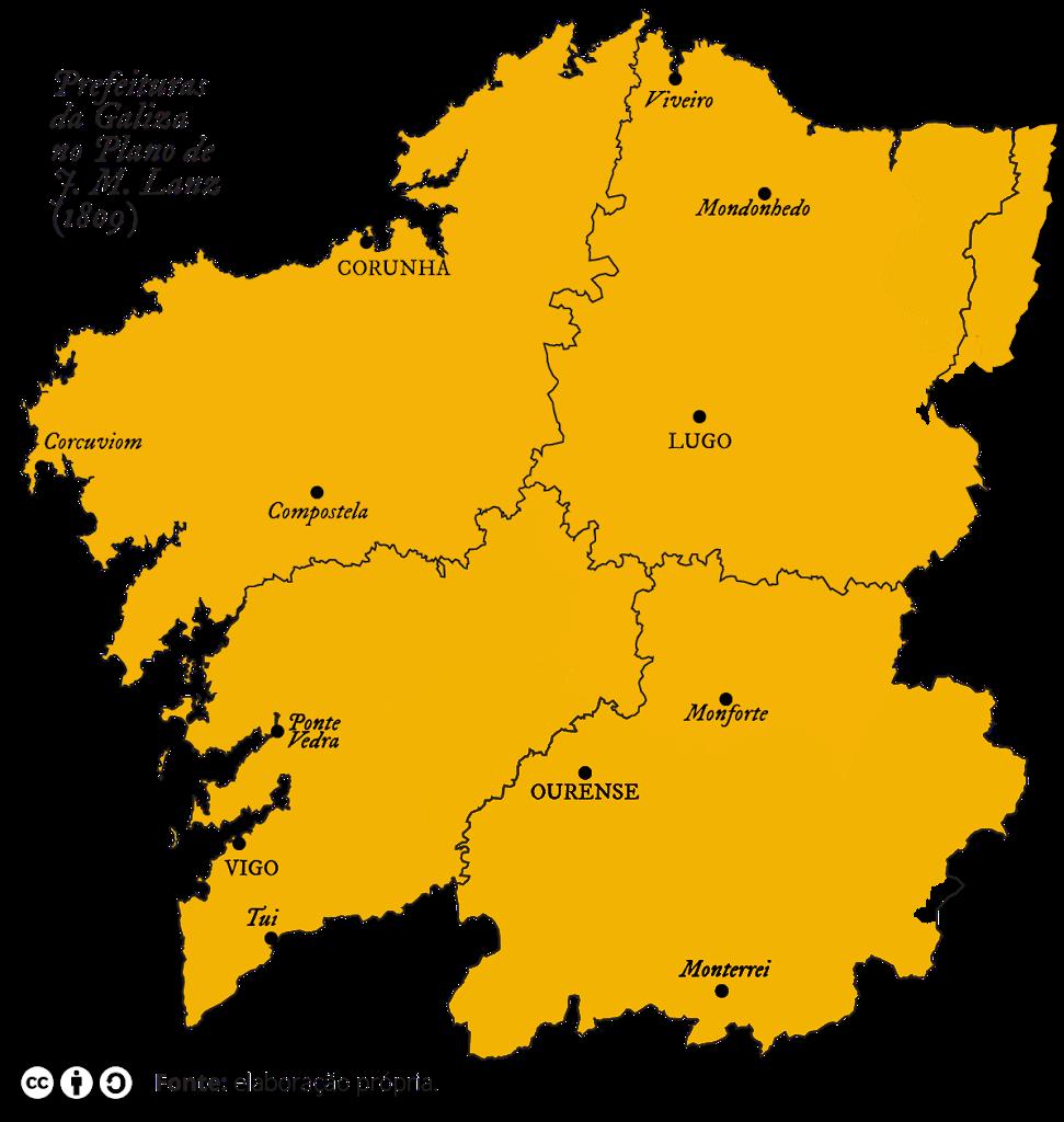 Prefeituras da Galiza na divisão de J. M. Lanz de 1809